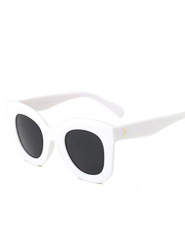 Unique Sunproof Outdoor Butterfly Sunglasses WHITE GREY