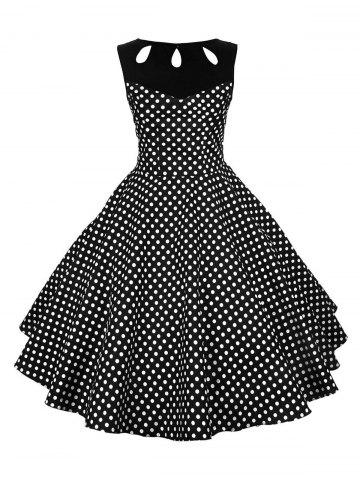 Store Pin Up Polka Dot Vintage Flare Dress