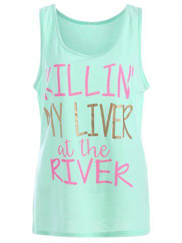 Outfit My Liver At The River Graphic Tank Top MINT S