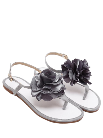 Outfits Flower Patent Leather Sandals