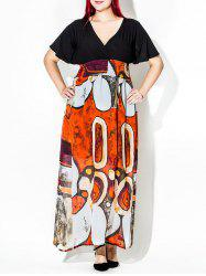 Printed Plus Size Maxi Dress