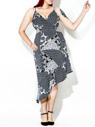 Asymmetric Plus Size Print Summer Dress