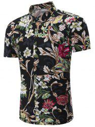 Short Sleeve Floral Patterned Hawaiian Shirt