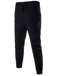 Drawstring Pockets Jogger Pants
