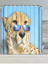 Wear Glasses Cheetah Water Resistant Shower Curtain