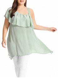 Plus Size Asymmetric Ruffle Top