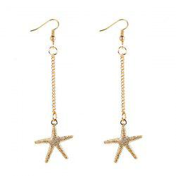 Starfish Drop Chain Earrings -