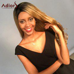 Adior Long Lace Front Wavy Side Bang Colormix Synthetic Wig
