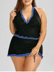 Plus Size Halter Padded Bathing Suit