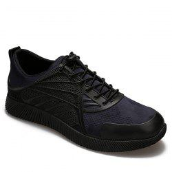 Faux Leather Camouflage Printed Athletic Shoes -