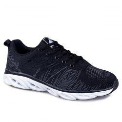 Line Pattern Breathable Athletic Shoe