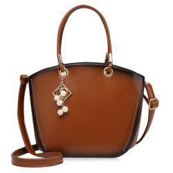 Pendant Eyelet Faux Leather Handbag