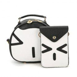 Color Block Handbag and Cellphone Bag