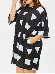 Plus Size Triangle Graphic T-Shirt Dress