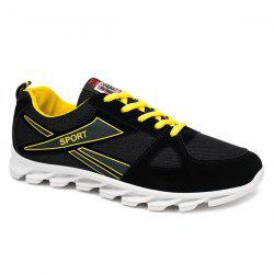 Breathable Letter Colour Block Athletic Shoes
