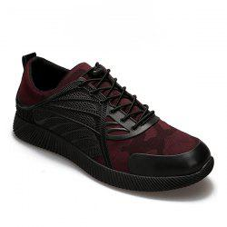 Faux Leather Camouflage Printed Athletic Shoes