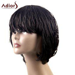Adiors Lace Side Bang Short Braid Bob Synthetic Wig