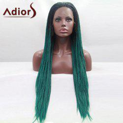 Adiors Three-ply Braids Ultra Long Ombre Lace Synthetic Wig
