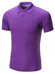 Plain Half Buttoned Polo Shirt