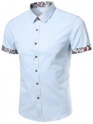 Short Sleeve Floral Trim Shirt