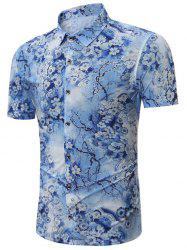 Short Sleeves All Over Floral Print Shirt
