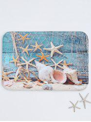 Starfish Print Absorbent Bath Rug - COLORMIX
