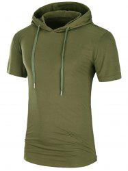 Side Zipper Longline Hooded Tee