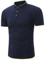 Half Button Grandad Collar Polo Shirt