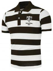 Stripe Patched Polo Shirt