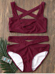 Criss Cross Low Cut Strappy Bikini