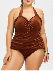 Plus Size Velvet One Piece Swimwear