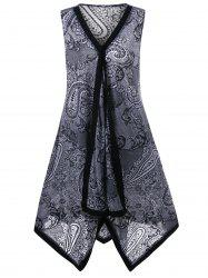 Sleeveless Paisley Plus Size Dress
