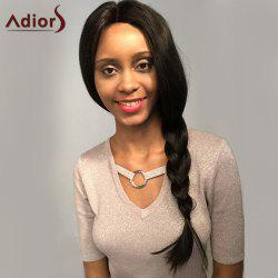 Adiors Long Middle Part Natural Slightly Curled Lace Front Synthetic Wig