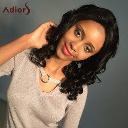 Adiors Long Dyeable Permed Shaggy Loose Wave Lace Front Synthetic Wig - NATURAL BLACK
