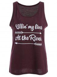 At The River Arrow Graphic Tank Top