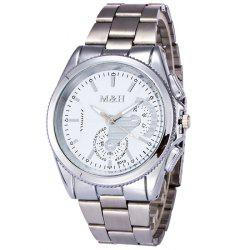 Metallic Strap Analog Wrist Quartz Watch