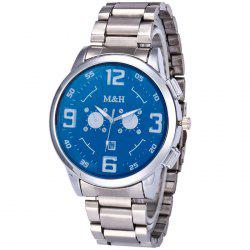 Steel Strap Number Quartz Analog Watch