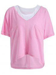 Plus Size V Neck Tee and Tank Top