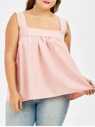 Square Neck Plus Size Swing Tank Top