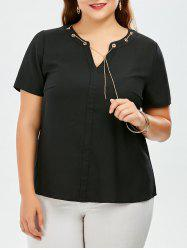 Chain Insert Plus Size Top