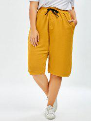 Plus Size Drawstring Wide Leg Pants