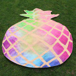 Diced Pineapple Shape Ombre Beach Throw