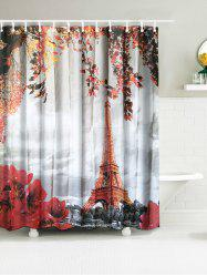 Eiffel Tower Waterproof Fabric Bath Curtain