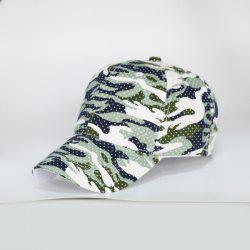 Camouflage Polka Dot Outdoor Army Baseball Hat - LIGHT GREEN