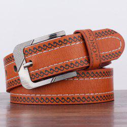 Spindrift Pattern Pin Buckle PU Wide Belt