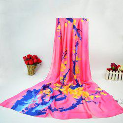 Wintersweet Blossom Ink Painting Wrap Scarf -