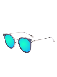 Mirrored Lens Insert Cat Eye Sunglasses