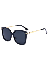 Metal Leg Butterfly Sunglasses - BLACK
