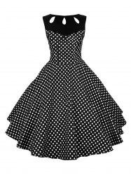 Pin Up Polka Dot Vintage Flare Dress