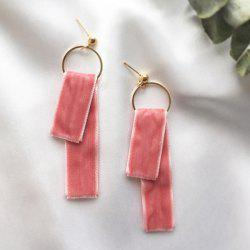 Circle Velvet Earrings -